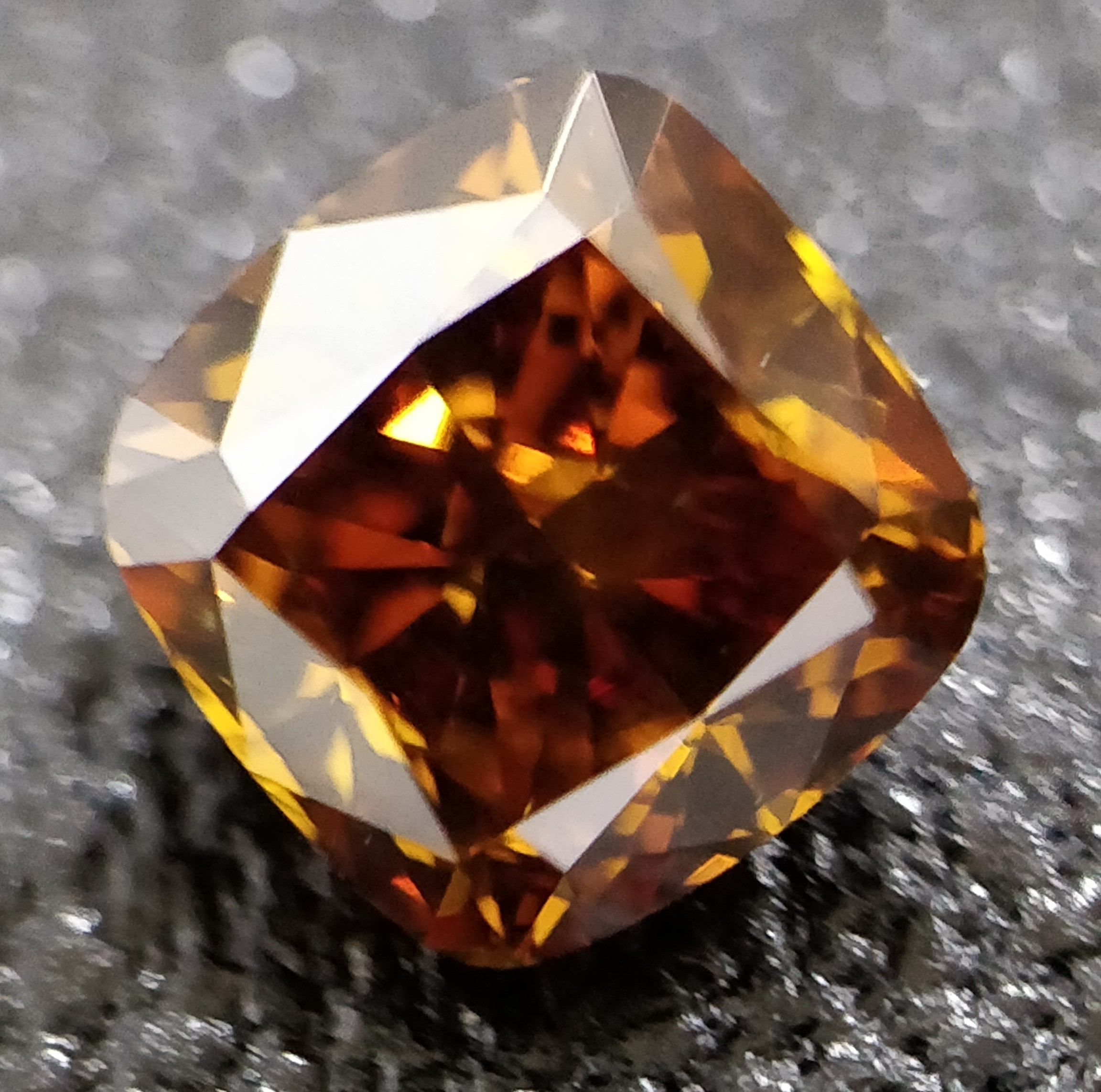 Cushion Cut 0.780 Carat Orange Color Si2 Clarity Sku 2804098698