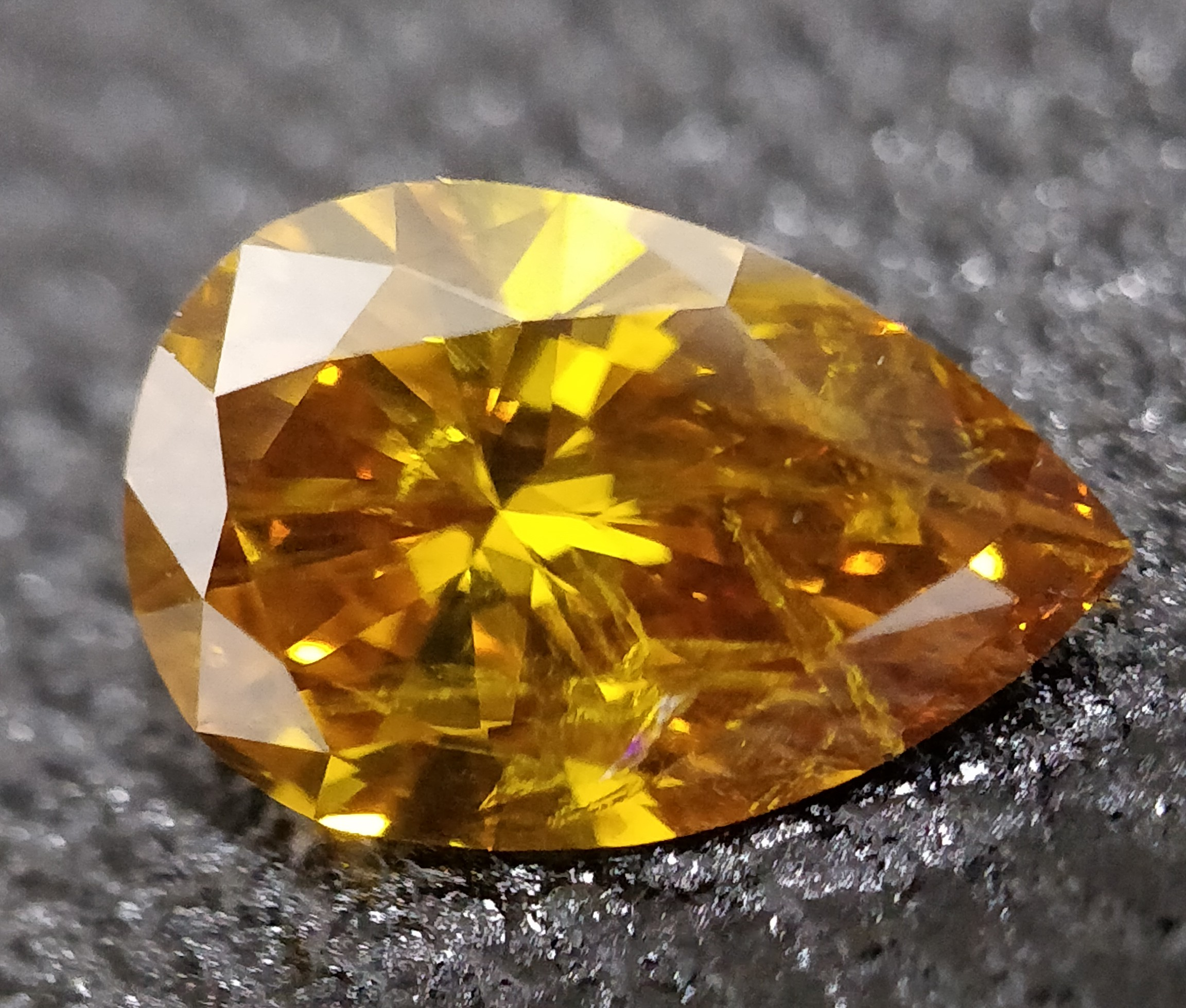 Pear Cut 0.810 Carat Brown Color I1 Clarity Sku 550563788
